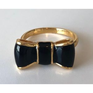 Kate Spade- Black Bow Ring